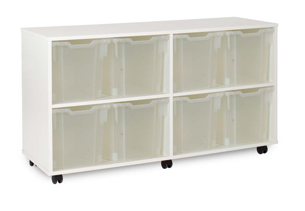White 8 Jumbo Tray Unit