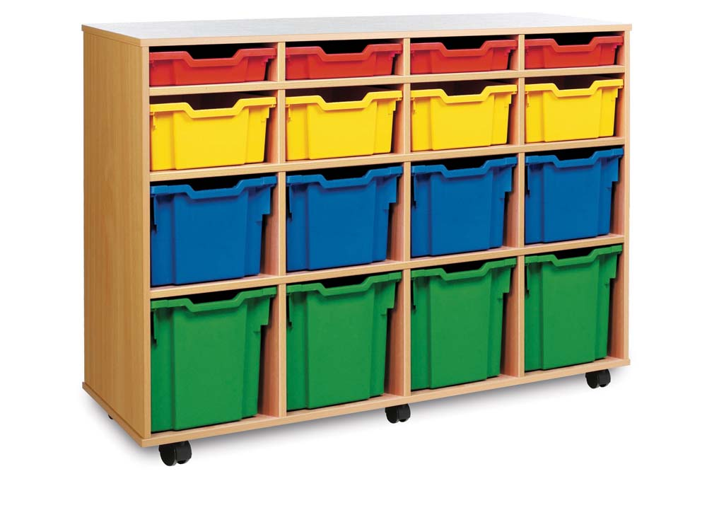 16 Variety Tray Storage Unit Unit  for classroom storage
