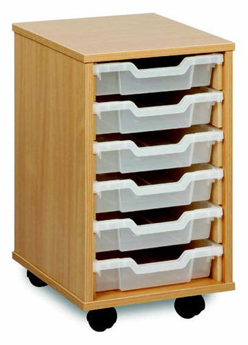 6 Shallow Tray Storage Unit Unit  for classroom storage