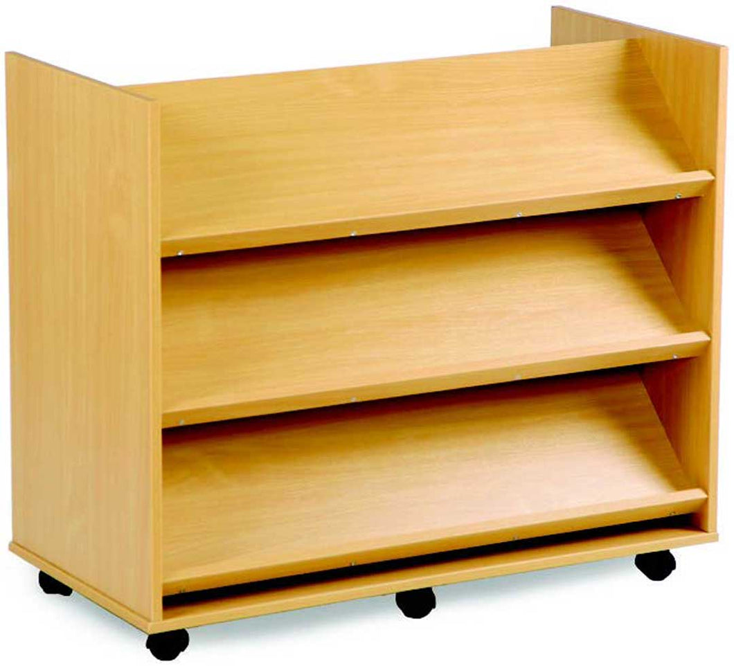 Library Unit w 3 Angled Shelves