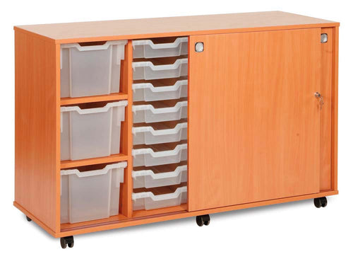 16 Shallow , 4 Deep & 3 Extra Deep Tray Unit with lockable Sliding Doors