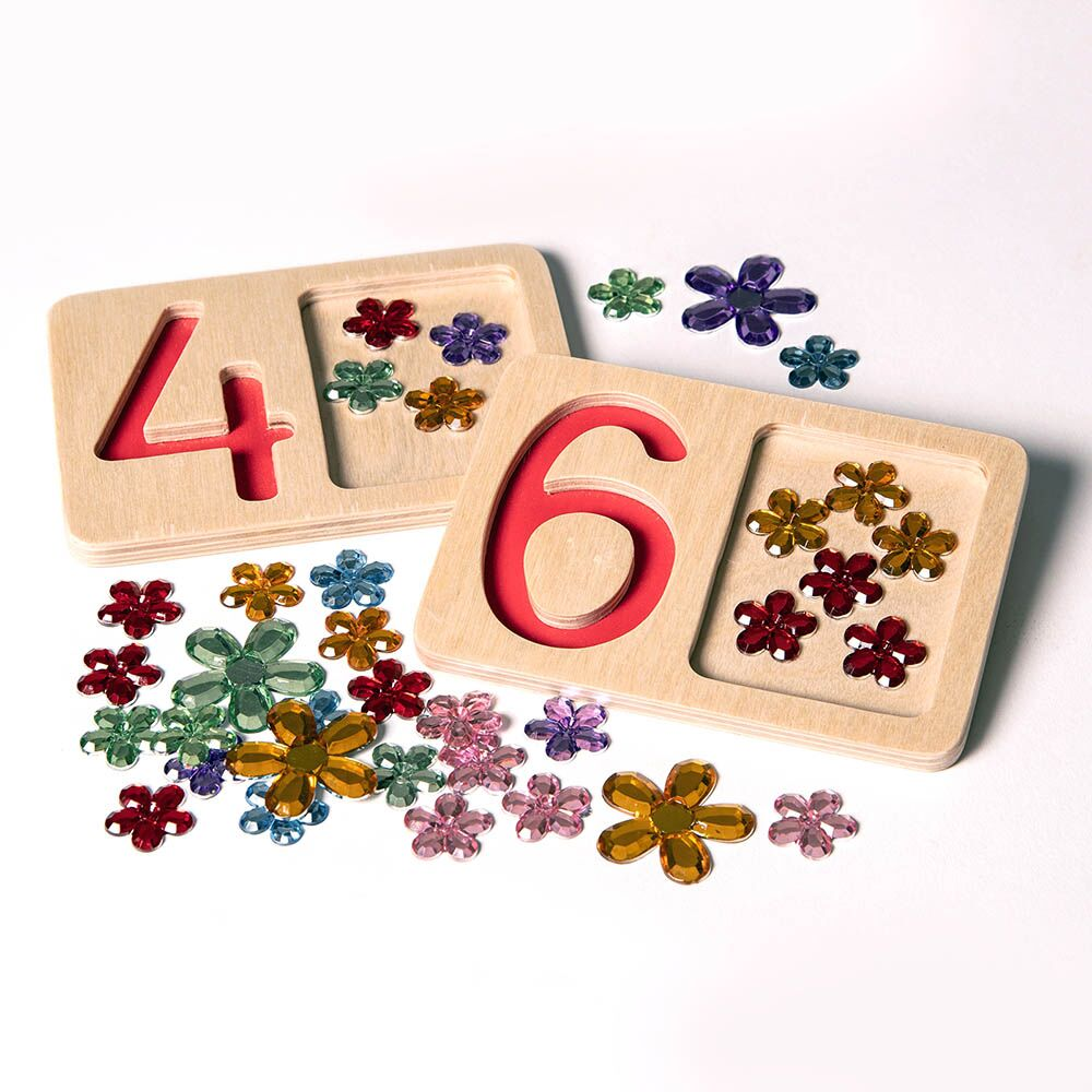 Wooden Number Trays