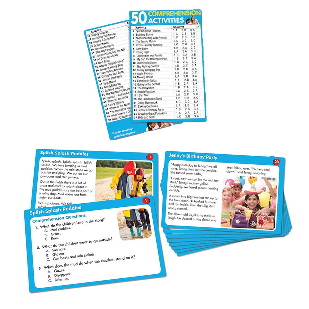 Comprehension Activity Cards
