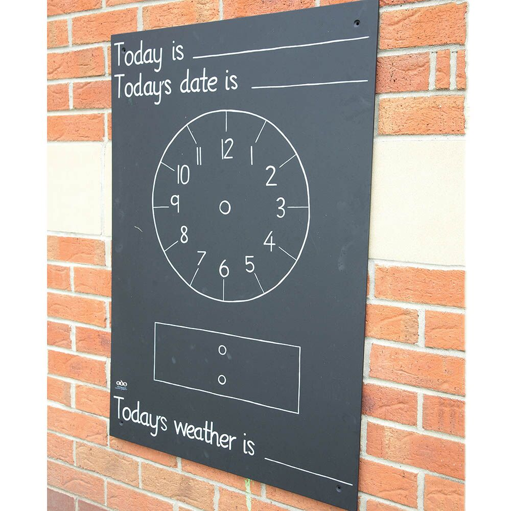 Telling the Time Chalkboard W66 x H95cm