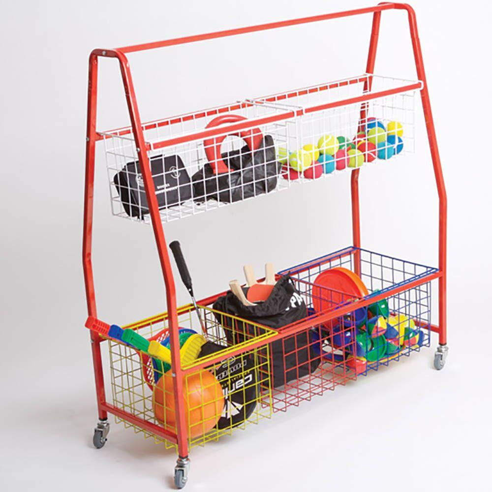 Storage Trolley with Mesh Baskets