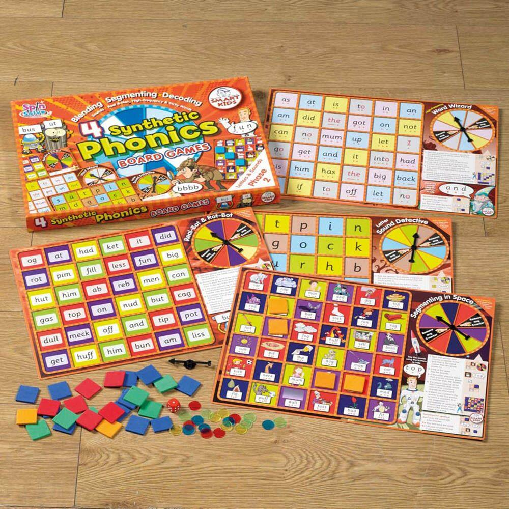4 Synthetic Phonics Phase 2 Board Games