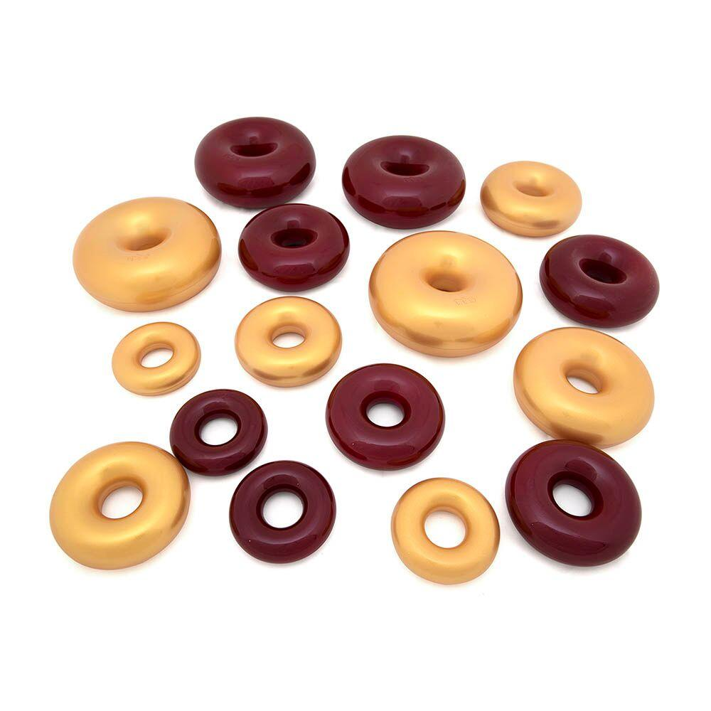 Marvellous Metallics Coloured Stacking Donuts 16pk