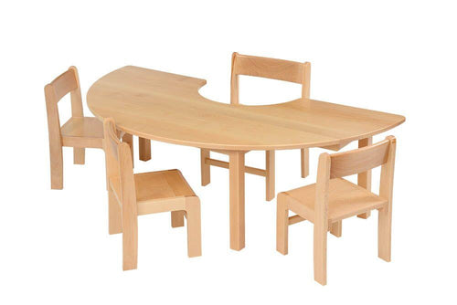 Teachers Beech Horseshoe Table