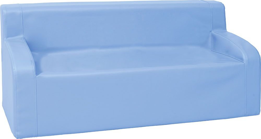 Sofa with armrests - blue