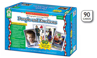 People And Emotions Learning Cards
