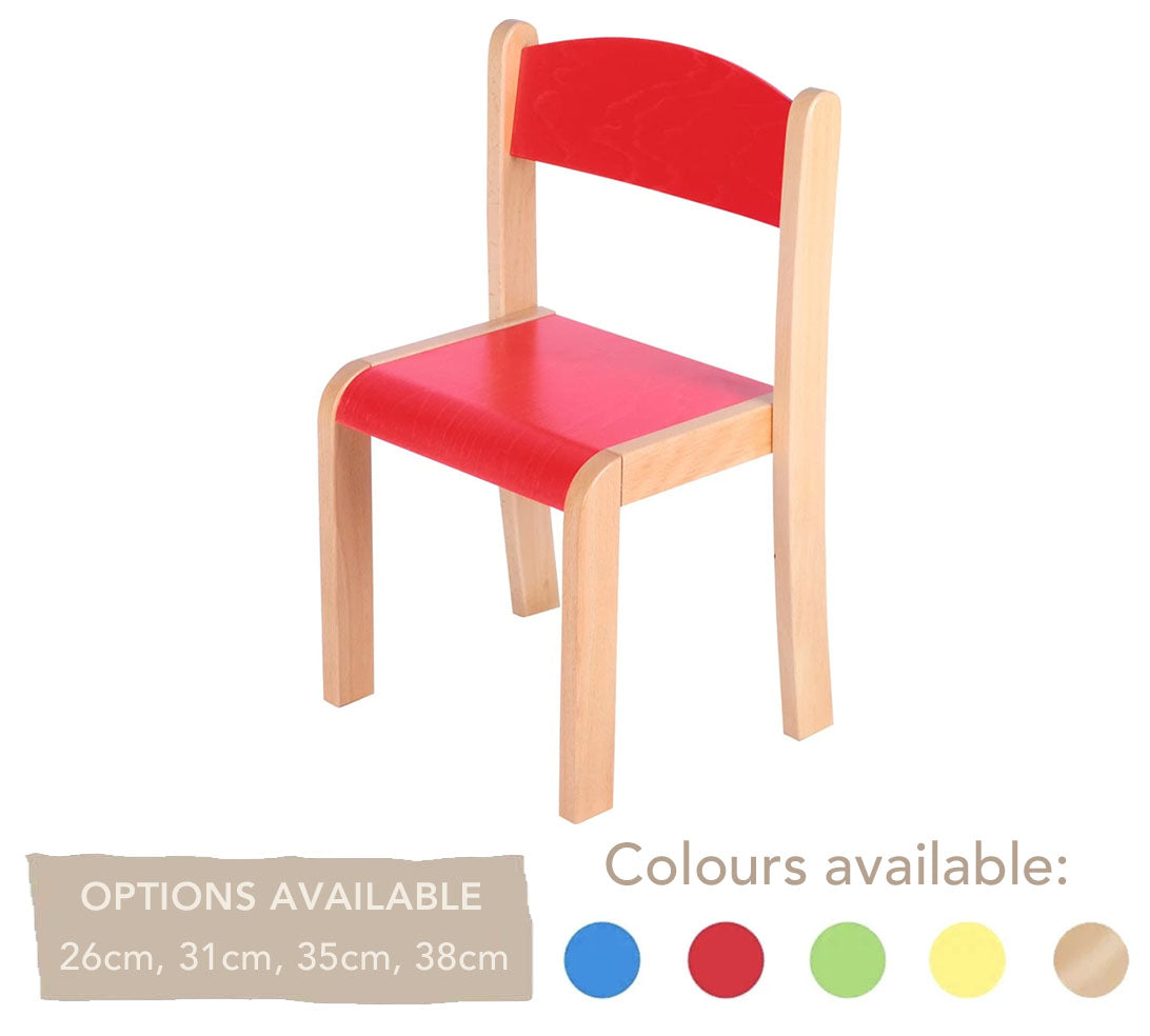 Philip Wooden Chair - All Heights & All Colours