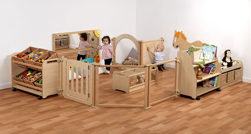 Baby Enclosure Zone with Large Baskets