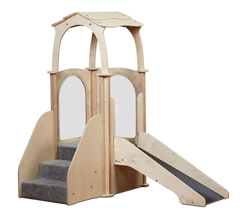 Step 'n' Slide Kinder Gym w/Roof Playscape