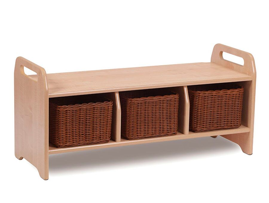 Welcome Storage Bench - Large with 3 Baskets