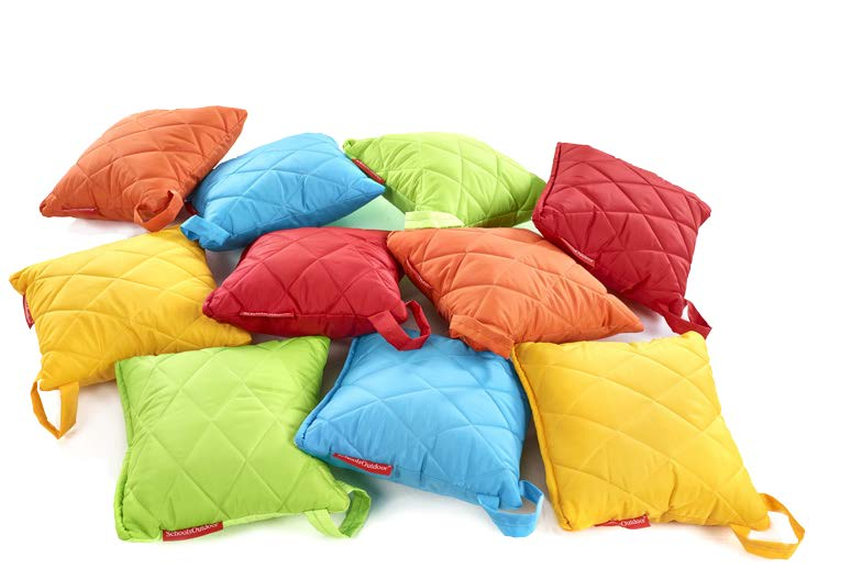 Quilted square cushions