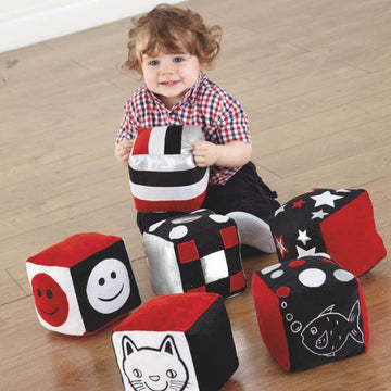 Baby Black and White Soft Cubes 6pk