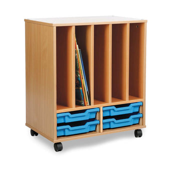 Allsorts Book Holder Unit - Beech