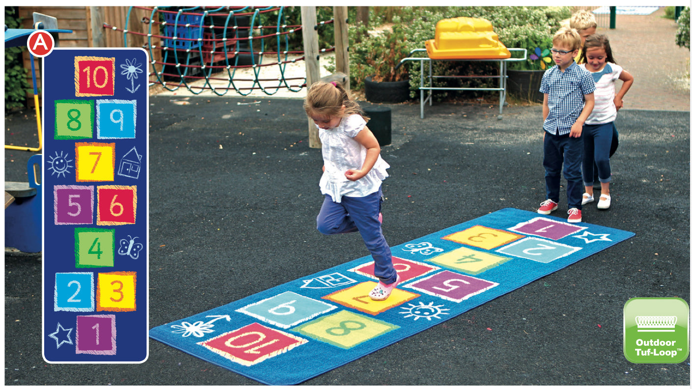 Hopscotch Outdoor Mat