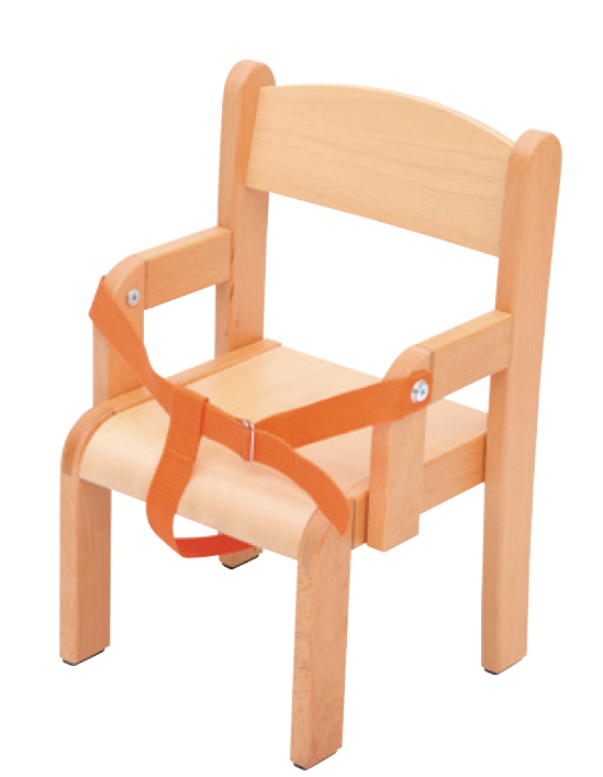 Wooden Chair 26Cm With Arms And Harness, Age 2-3