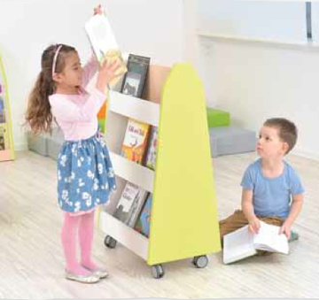 Quadro - doublesided library stand - lime