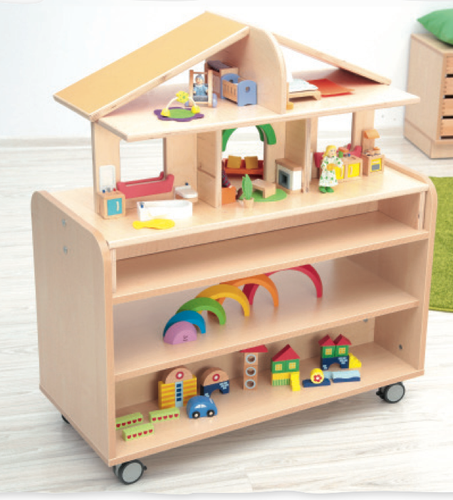 Mobile Dollshouse with Flexi S Cabinet
