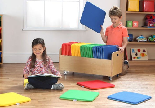 NEW Rainbow Square Cushions & Tuf 2™ Trolley Set of 32
