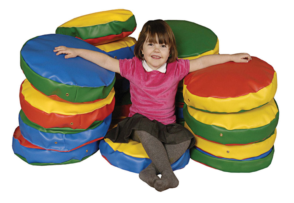 Story Cushions Round- Vibrant Colours set of 10 - EASE