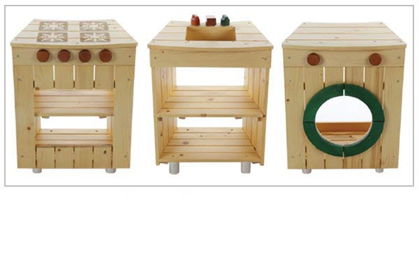 Set Of 3 Outdoor Play Kitchens