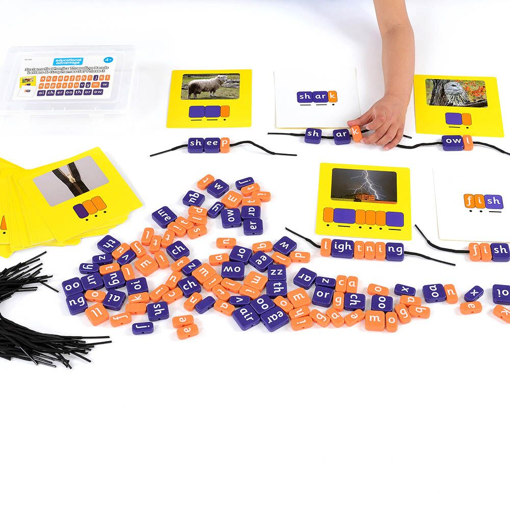 Phonics Threading Beads - Phase 3 Set