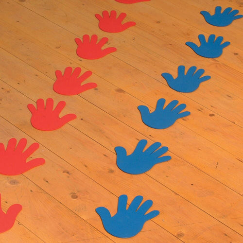 Rubber Floor Markers Hand and Feet 24pk