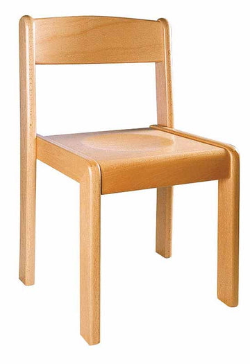 Wooden Chair - Beech 43cm