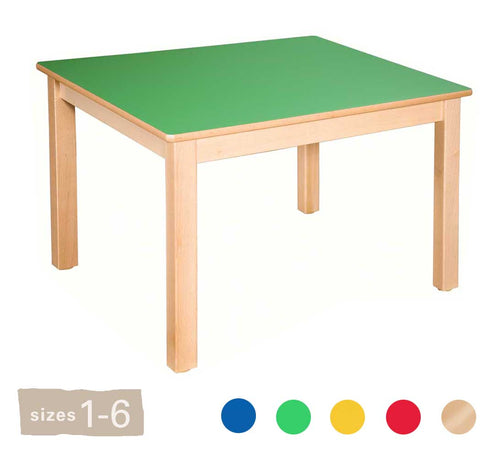 Square Wooden Table All Heights & All Colours