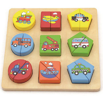 Shape Block Puzzles - Set of 2