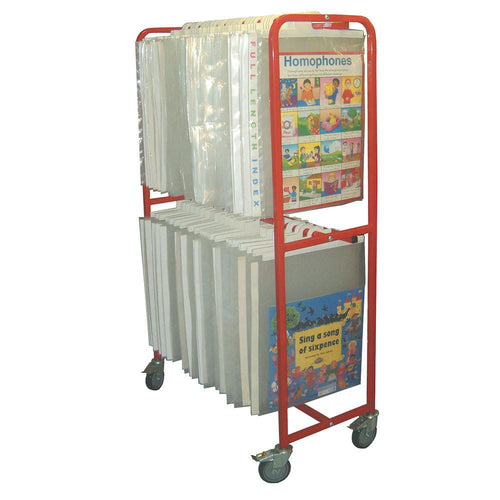 Large Mobile Big Book Stand L100 x W52 x H182cm