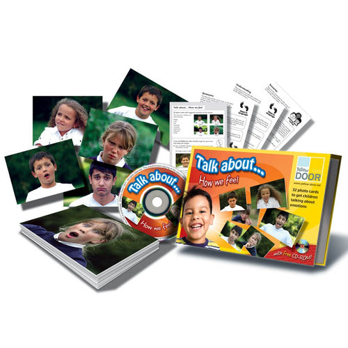 Talk About How We Feel Photo Discussion Cards 32pk