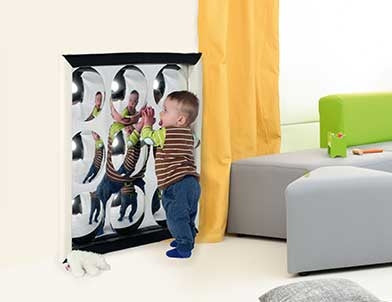 Black and White Bubble Mirror