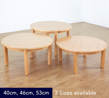 Classic Beech Veneer Circular Table - 3 Heights available