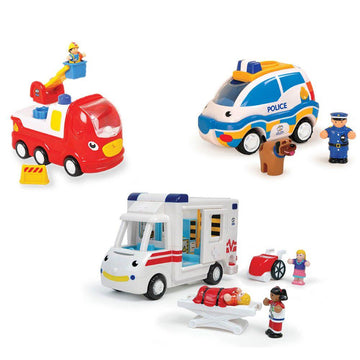 Wow Toys Emergency Services Vehicle 3pk