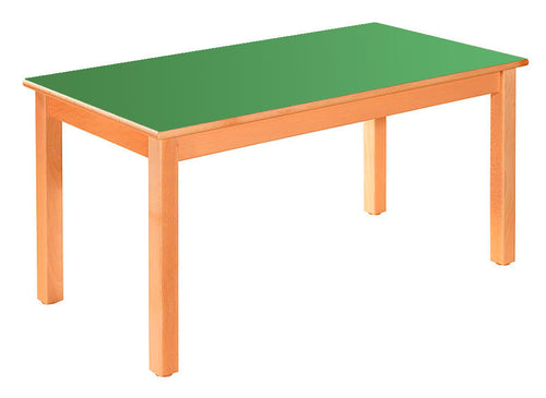 Rectangular Table Green All Heights