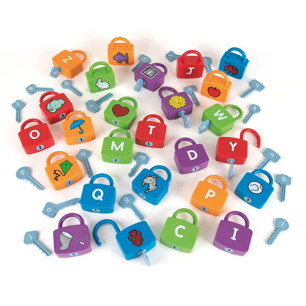 Alphabet Learning Locks Padlock and Keys Matching