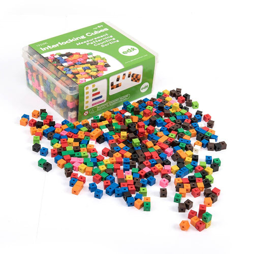 Plastic Interlocking Colour Cubes 1000pk