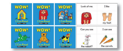 Wow I Can Read Books Set 1 Blue