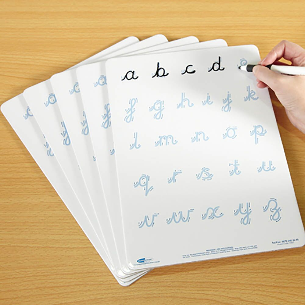 Cursive Letter Formation Dry Wipe Boards A4 5pk