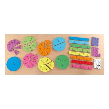 Foam Magnetic Fraction Tiles Pack 106pcs