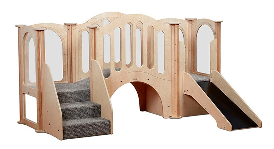 Hide & Slide Kinder Gym (with roof)