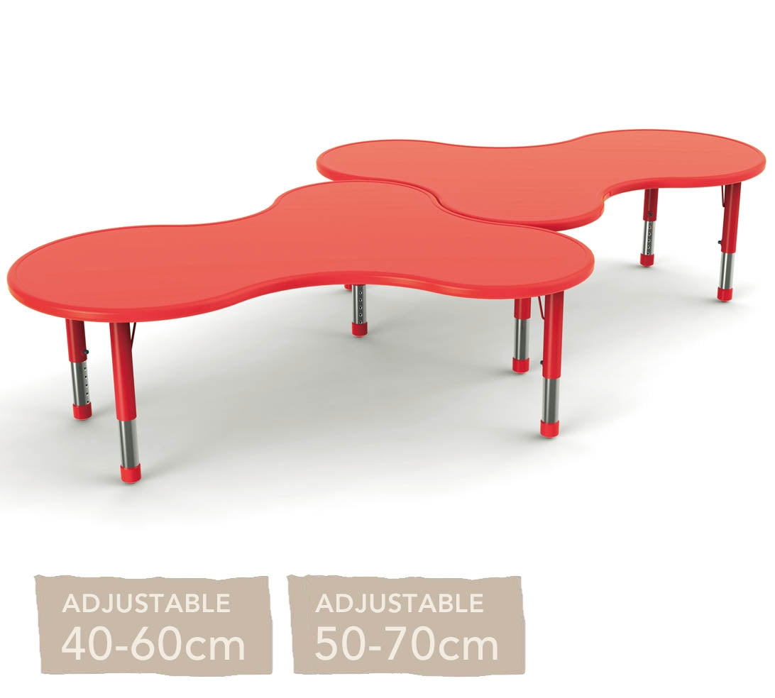 Adjustable Clover Polyethylene Table All Colours and Heights