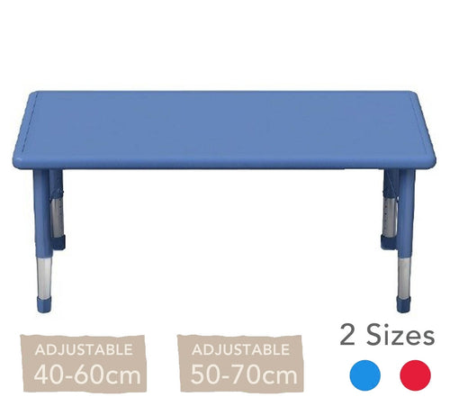 Adjustable Rectangular Polyethylene Table All Colours and Heights