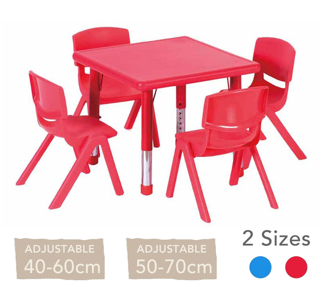Adjustable Square Polyethylene Table All Heights and Colours