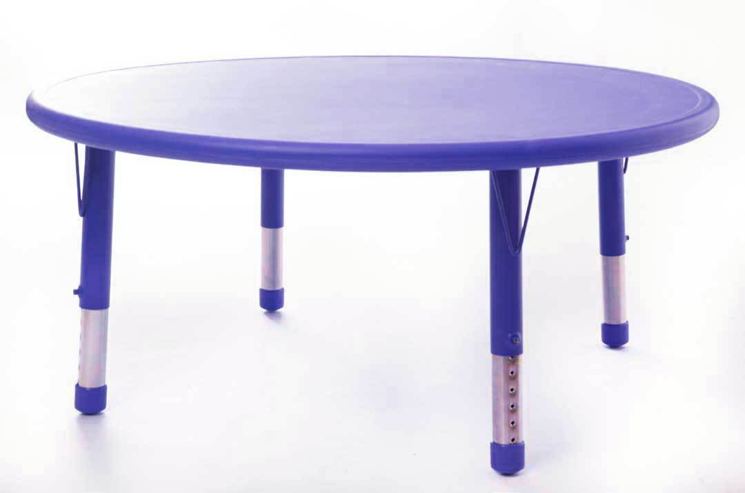 Adjustable Polyethylene Circular Table and Chairs - All Heights and Colours