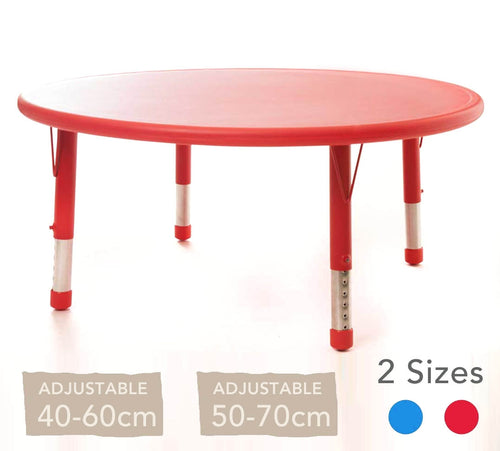 Adjustable Circular Polyethylene Table All Colours and Heights